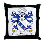 Coel Family Crest Throw Pillow