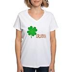 Irish Shamrock Women's V-Neck T-Shirt
