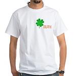 Irish Shamrock White T-Shirt