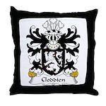 Cloddien Family Crest Throw Pillow