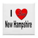 I Love New Hampshire Tile Coaster