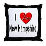 I Love New Hampshire Throw Pillow