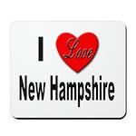 I Love New Hampshire Mousepad