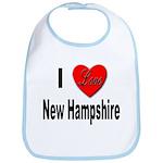 I Love New Hampshire Bib