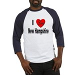 I Love New Hampshire (Front) Baseball Jersey