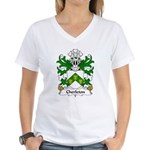 Cherleton Family Crest Women's V-Neck T-Shirt