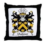 Chaloner Family Crest Throw Pillow