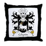 Celynin Family Crest Throw Pillow