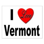 I Love Vermont Small Poster