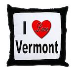 I Love Vermont Throw Pillow