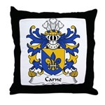 Carne Family Crest Throw Pillow