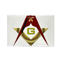 The Fez on the S&C Rectangle Magnet (10 pack)