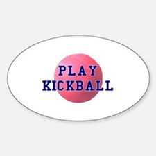 Play Kickball Oval Decal