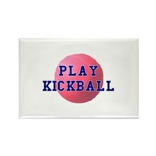 Play Kickball Rectangle Magnet