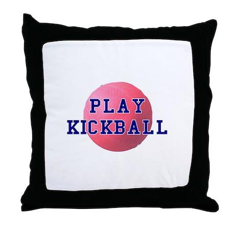 Play Kickball Throw Pillow