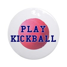 Play Kickball Ornament (Round)