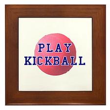 Play Kickball Framed Tile