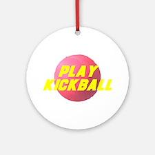 Play Kickball Ornament (Round)