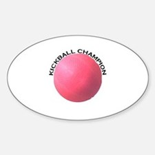 Kickball Champion Oval Decal