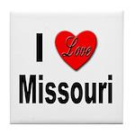 I Love Missouri Tile Coaster
