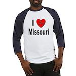I Love Missouri (Front) Baseball Jersey