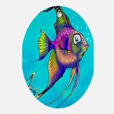 Cute Tropical aquarium Oval Ornament