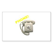 Phone! Rectangle Decal