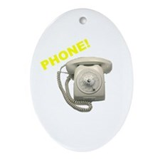 Phone! Oval Ornament