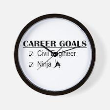 Civil Engineer Career Goals Wall Clock