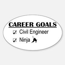 Civil Engineer Career Goals Oval Decal
