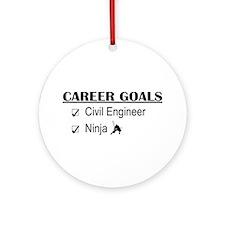 Civil Engineer Career Goals Ornament (Round)