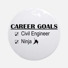 Civil Engineer Career Goals Ornament (Round)