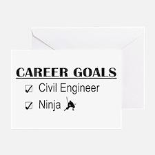 Civil Engineer Career Goals Greeting Cards (Pk of