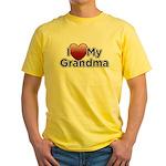Love Grandma Yellow T-Shirt