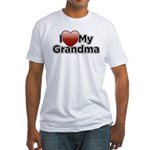 Love Grandma Fitted T-Shirt