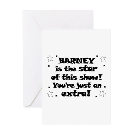 Barney is the Star Greeting Card