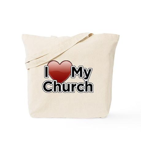 Love Church Tote Bag