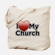 Love Church Tote Bag