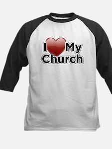 Love Church Kids Baseball Jersey