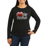 Love Savior Women's Long Sleeve Dark T-Shirt