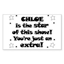 Chloe is the Star Rectangle Decal