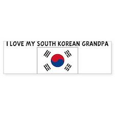 I LOVE MY SOUTH KOREAN GRANDP Bumper Bumper Sticker