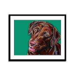 Happy Dog Framed Panel Print
