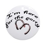 Here for the party Keepsake (Round)