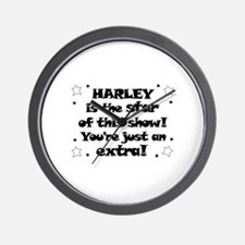 Harley is the Star Wall Clock