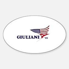 Rudy Giuliani 08 flag Oval Decal
