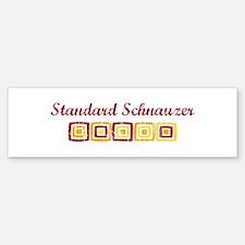 Standard Schnauzer (vintage c Bumper Bumper Bumper Sticker
