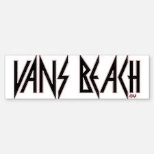 Vans Beach- Vintage 80's Rock Bumper Bumper Bumper Sticker