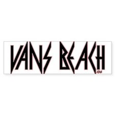 Vans Beach- Vintage 80's Rock Bumper Bumper Sticker