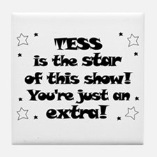 Tess is the Star Tile Coaster